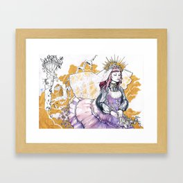 Watercolour Classic Lolita Framed Art Print