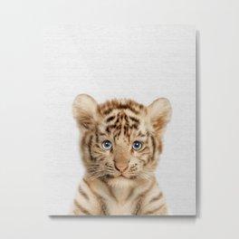 Baby Tiger Metal Print