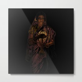 49-Lady With The Lamp Metal Print