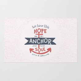 """Anchor for the Soul"" Hand-lettered Bible Verse Rug"