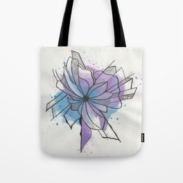 Explosion Flower Blue and Purple Tote Bag