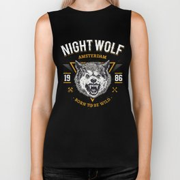 Night Wolf Biker Tank