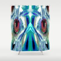 pain Shower Curtains featuring Pain by Robin Curtiss