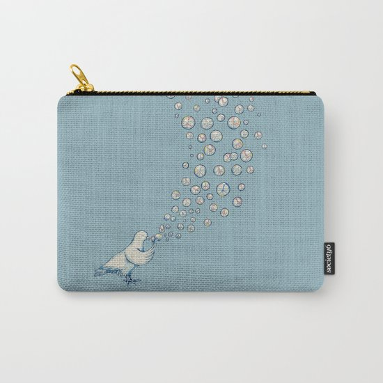 Bubbles Peace Carry-All Pouch