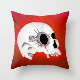 robotskull Throw Pillow