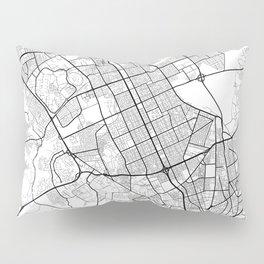 Riyadh Map White Pillow Sham