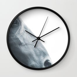 Horse head - fine art print n° 2, nature love, animal lovers, wall decoration, interior design, home Wall Clock