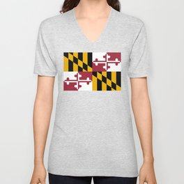 Maryland State Flag, Hi Def image Unisex V-Neck