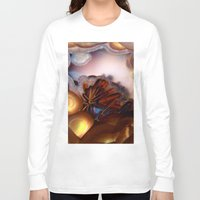 minerals Long Sleeve T-shirts featuring Colorful Gemstone by Kristiana Art Prints