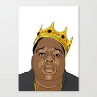 biggie Canvas Prints featuring BIGGIE  by 6ense