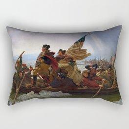 Washington Crossing the Delaware Painting Rectangular Pillow
