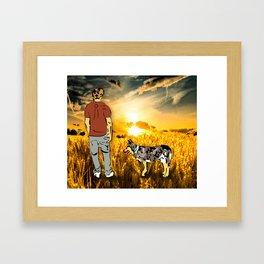 Harvest Sunset Framed Art Print