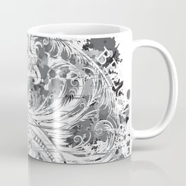 Sky Above Me Earth Below Me Fire Within Me - Grayscale Yin Yang Dragon Swirl Coffee Mug