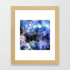 Winter Night Orchard Framed Art Print