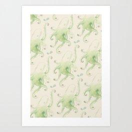 Septopus Wallpaper Art Print