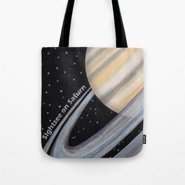 Sightsee On Saturn Tote Bag