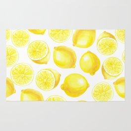 Watercolor lemons design Rug