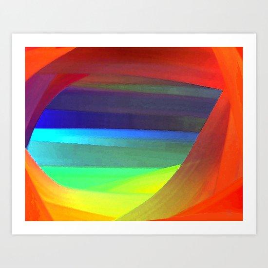A Blue View Art Print