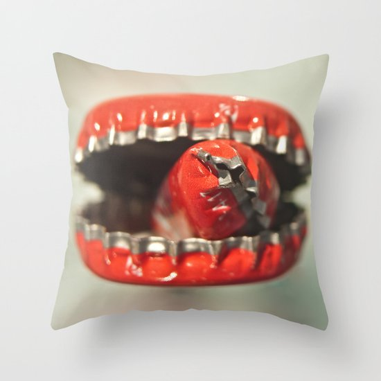 Cap Cannibal  Throw Pillow