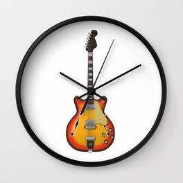 Hollow Body Guitar Wall Clock