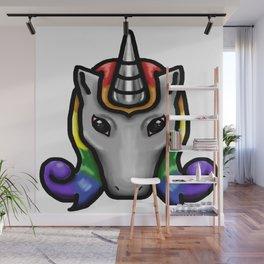 Unicorn Head Wall Mural