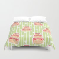 cake Duvet Covers featuring Cake by Marta Li