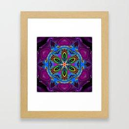 vivid flower cv Framed Art Print