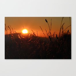 Burning Sunset Canvas Print