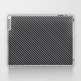 Sharkskin and Black Stripe Laptop & iPad Skin