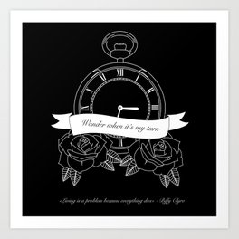 """""""Living is a problem because everything dies"""" - part II - Biffy Clyro Art Print"""