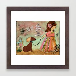 a friend loves at all times.... Framed Art Print