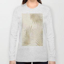 Relaxing Palms-Gold Long Sleeve T-shirt