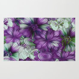 Violets and Greens Rug