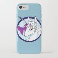 the last unicorn iPhone & iPod Cases featuring Last Unicorn by AriesNamarie