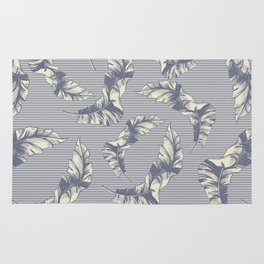 tropical gentle falling leaves Rug