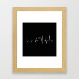 Coffee cardiac in black Framed Art Print