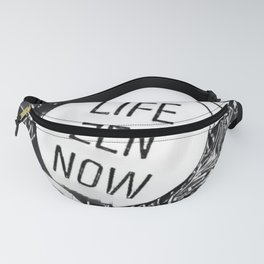 buddha skecht style inside a shell life zen now Fanny Pack