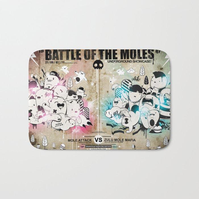 Battle of the moles Bath Mat