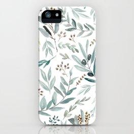 Eucalyptus pattern iPhone Case