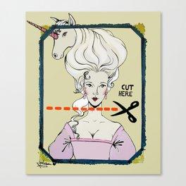 CUT HERE Canvas Print