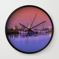 marina Wall Clocks featuring Marina by Laake-Photos