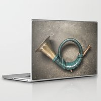 french Laptop & iPad Skins featuring French Horn by Maria Heyens