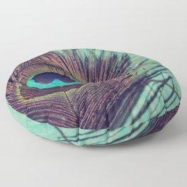 Peacock Feather Floor Pillow