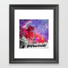NEBULA VINTAGE PARIS Framed Art Print