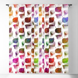 Colorful Leaves Cascade Blackout Curtain