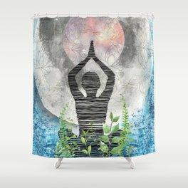 Harvest Moon - Yogi - Meditation Shower Curtain