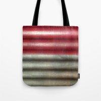 industrial Tote Bags featuring 🔵 Industrial Wall by Tru Artwear