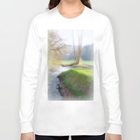 running Long Sleeve T-shirts featuring Running Water by Laake-Photos