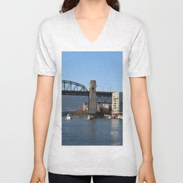 Burrard Bridge Unisex V-Neck