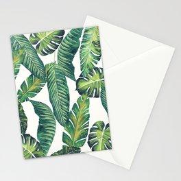 Jungle Leaves, Banana, Monstera II #society6 Stationery Cards